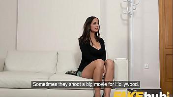 Modelo española follada en un casting porno internacional
