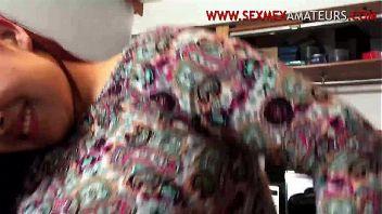 Gorda mexicana folla en el trabajo mientras la graban