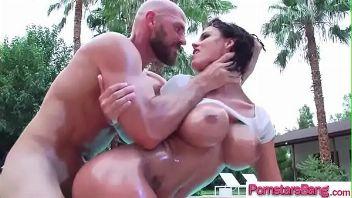 Peta Jensen penetrad por un hombre calvo con mucha fuerza que desea lastimar su panochate