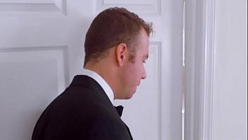 Padrino folla con la puta de la novia antes de la boda