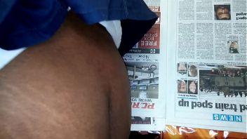 Ebony BBW follando con un joven enfermo