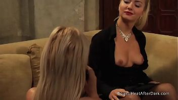 Dos impresionantes lesbianas se preparan para hacer porno BDSM