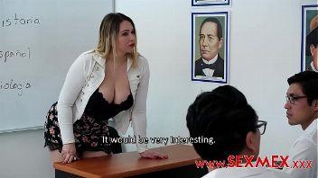 Profesora follando con sus alumnos video porno de sexmex